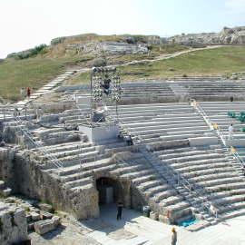 Attrezzamento Teatro Greco di Siracusa